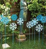 ... & Event Ideas : Easy Holiday Garden Decor - Frosty Garden Stakes