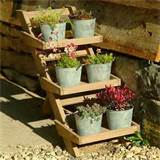 ideas wooden herb pot stand from garden trading home interior design
