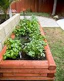 raised herb garden bed woodworking project plans