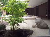 contemporary zen garden or rock garden design