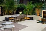 Contemporary zen garden roof terrace design