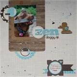 Scrapbook Layouts Gallery Zen Doggy by scrappininAK