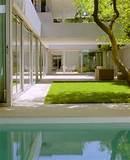 ... Zen Garden And Green Roof 0 Modern Low House With Zen Garden And Green