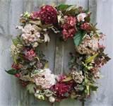 ... hydrangea wreath floral door decor victorian garden country wallpaper