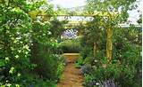 ... style of an English country garden, the floral exhibit contains drifts