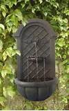 ... Outdoor Wall Water Fountain Iron Finish Water Feature Garden Decor