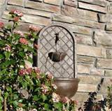 The Milano Weathered Bronze Outdoor Wall Fountain