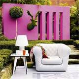 Colourful outdoor wall garden - Nice Wall Decor Ideas