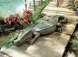 alligator sculpture home garden pond crocodile outdoor decor ebay