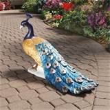 classic regal peacock statue home yard garden outdoor decor products