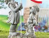 flag americana garden statue figurine yard art outdoor decor people