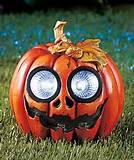 halloween pumpkin solar yard garden statue outdoor light decor nib
