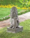 lion guardian statue outdoor garden decor fiber resin ebay