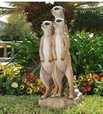 meerkat friends garden sculpture large statue outdoor decor ebay