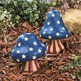 new patriotic mushrooms garden statues yard outdoor decor ebay