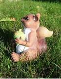 playful squirrel animal garden statue outdoor lawn decor ebay