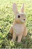 rabbit garden statue realistic outdoor bunny lawn decor ebay