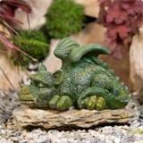 sleepy green dragon garden ornament decor yard sculpture outdoor