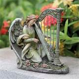 with harp figure outdoor statue patio garden yard lawn decor ebay