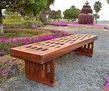 redwood lighthouse garden bench