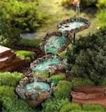 unique outdoor cascading stream garden fountain yard decor new ebay