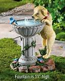 Unique Puppy Bird Outdoor Garden Fountain Yard Decor Birdbath New ...