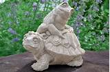 frog turtle outdoor garden statue yard decor figurine pictures