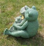 loving frog family garden statue outdoor lawn decor ebay