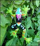 metal plant stake frog design outdoor garden decor 14 x 9