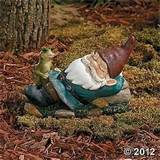 new sleeping gnome with frog garden statue yard outdoor decor ebay