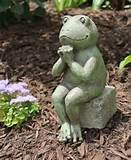 praying frog garden statue shelf sitter indoor outdoor decor ebay