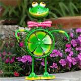 yard decor patio decor garden decor 15 frog springee spinner