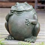 is meant to be planter small stone rock frog garden pond decor