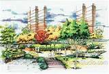 flower garden ideas landscape rendering