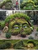 unique garden with human statue design ideas