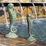 about the seahorse fountain return to unique garden decor homepage