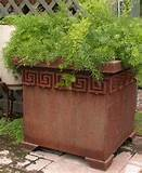 greek key garden planter return to unique garden decor homepage