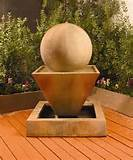 oblique fountain with ball return to unique garden decor homepage