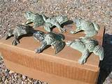 cast iron garden yard decor moss green toad frogs bz garden decor