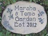 personalized garden stone custom orders postponed until january