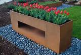 picture of a custom horizontal box planter