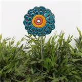 Flower garden art- garden decor- abstract plant stake - lawn ornament ...