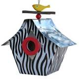 Retro Zebra Birdhouse Garden Decor ~ Unique Gifts ~ Decor4u.com