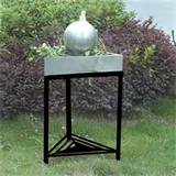 Unique Arts M32010 Stainless Steel Triangle Table Top Outdoor Fountain ...
