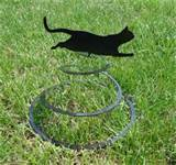 cat spring garden metal art by knobcreekmetalarts on etsy