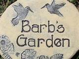 ... Handmade GARDEN STONE - Custom garden sign - garden decor - unique