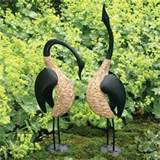 Pair of Geese Garden Sculpture ~ Garden Decor ~ Unique Gifts ...