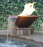 product description handcrafted gfrc fire bowl with water feature ...