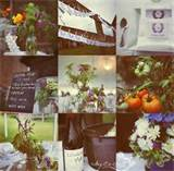 rustic wedding details michigan outdoor reception purple flowers