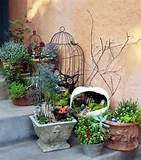 Miniature Halloween gardens make charming porch and patio decorations.